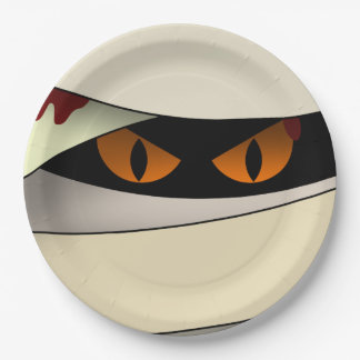 Bleeding Mummy Halloween Paper Plate