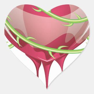 Bleeding Red Heart Heart Sticker