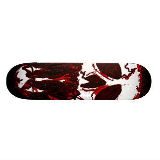 Bleeding skull skateboard deck