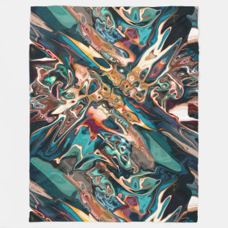 Blended Abstract Shapes Fleece Blanket