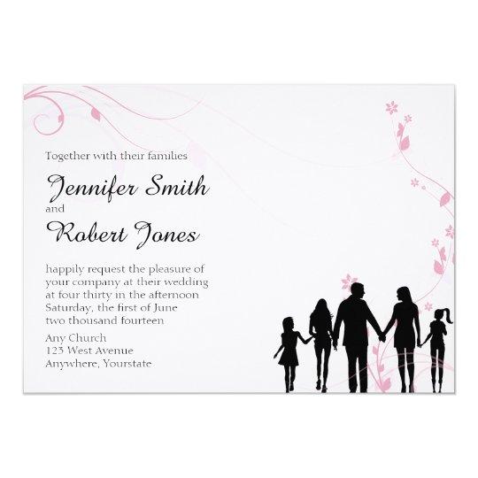 Blended Family Wedding Invitation Zazzle Co Uk