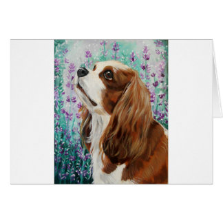 Blenheim Cavalier King Charles Spaniel Card