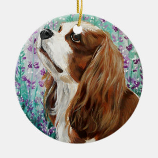 Blenheim Cavalier King Charles Spaniel Christmas Ornament