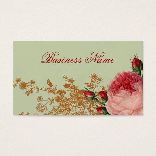 Blenheim Rose - Elegant Sage Green Business Card
