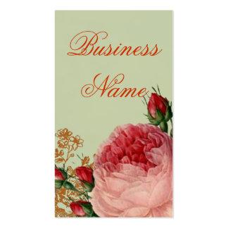 Blenheim Rose - Elegant Sage Green - Swing tag Pack Of Standard Business Cards