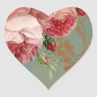 Blenheim Rose Heart Sticker