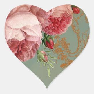 Blenheim Rose Heart Sticker