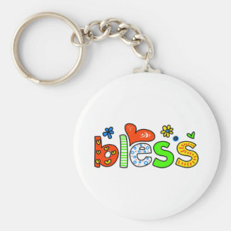 Bless Basic Round Button Key Ring