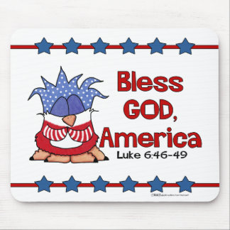 Bless God, America- Luke 6:46-49-Birds of Pray Mouse Pad