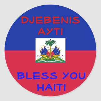 Bless Haiti stickers