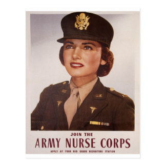 Bless Our Female Military Postcard