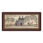 BLESS OUR HOME~Primitive Rustic Home Decor Art Poster