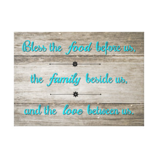 Bless the food canvas print