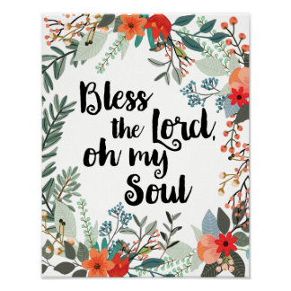 Bless the Lord, Oh My Soul Poster