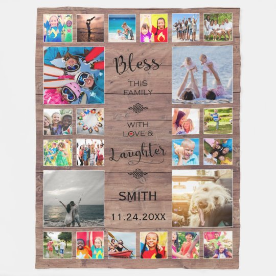 Bless this Family with love 24 Photo Collage