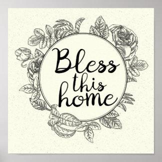 Bless This Home Art Print