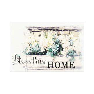 """""""Bless this Home"""" Canvas Wall Art"""