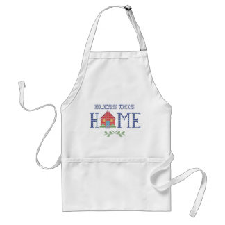 Bless This Home Cross Stitch Embroidery Standard Apron