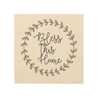 Bless This Home Wood Wall Art Wood Canvases