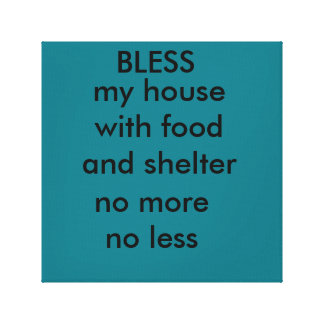 bless this house canvas print
