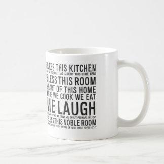 bless this kitchen MA012 Classic White Coffee Mug