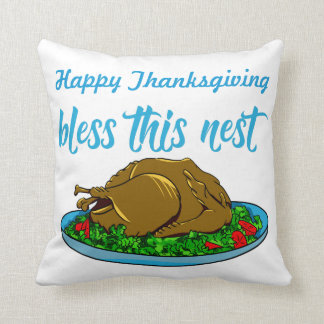 Bless This Nest Family Thanksgiving Cushion