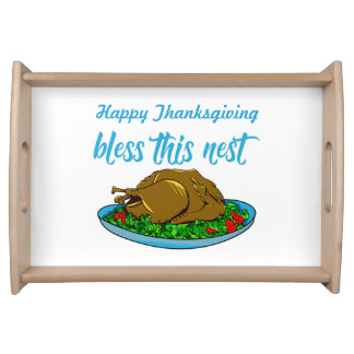 Bless This Nest Family Thanksgiving Serving Tray