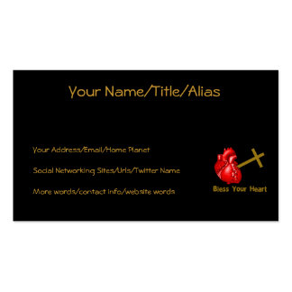 Bless Your Heart Business Card Template