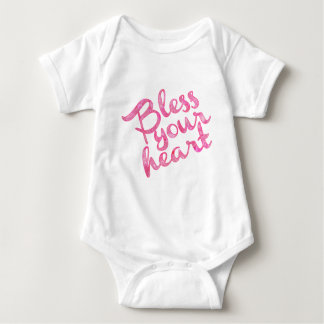 Bless Your Heart Pink Sparkle Baby Bodysuit