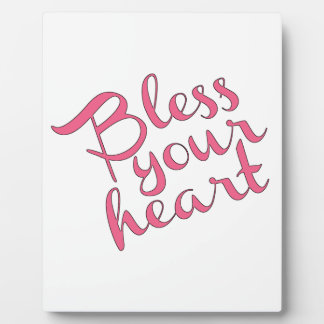 Bless Your Heart Plaque