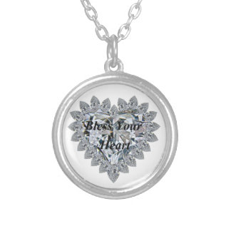 Bless Your Heart Silver Plated Necklace