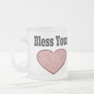 Bless Your Heart - Southern Saying Frosted Glass Coffee Mug