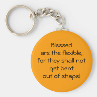Blessed Are The Flexible Basic Round Button Key Ring