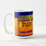 """""""Blessed Are The Pure in Heart"""" Basic White Mug"""