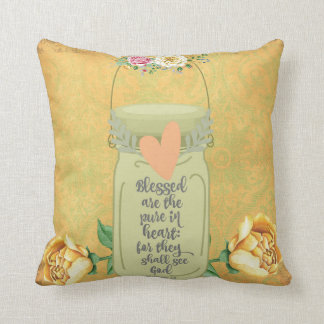 Blessed are the Pure in Heart Bible Verse Cushion