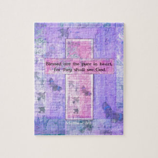 Blessed are the pure in heart BIBLE VERSE Jigsaw Puzzle