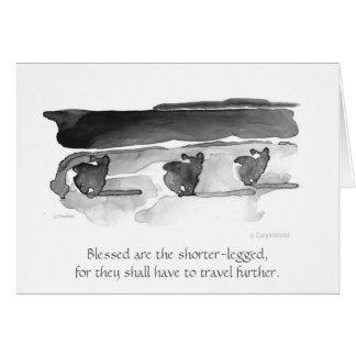 "Blessed Are the Shorter-Legged"" Corgi Beatitude Greeting Card"