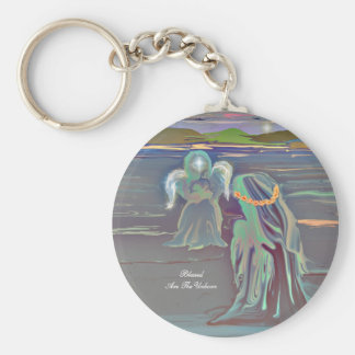 Blessed Are The Unborn Basic Round Button Key Ring