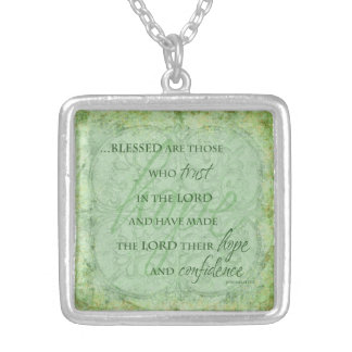 Blessed are Those Who trust in the Lord Necklace