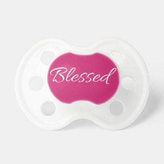 """BLESSED!"" baby pacifier BooginHead Pacifier"