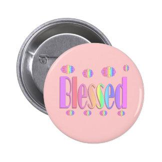 Blessed 6 Cm Round Badge