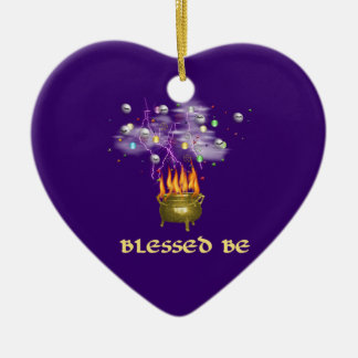 Blessed Be Ceramic Heart Decoration