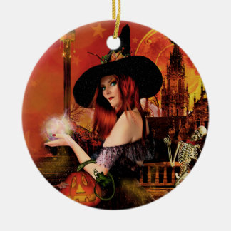 Blessed Be Magical Night Witch Ornament