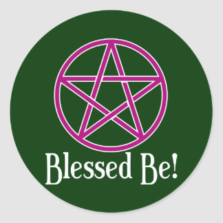 Blessed Be Pentagram Classic Round Sticker