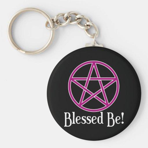 Blessed Be Pentagram Keychain