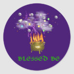 Blessed Be Round Stickers