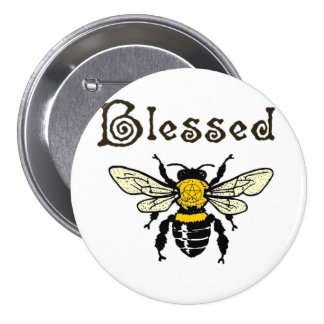 """Blessed """"Bee"""" button"""