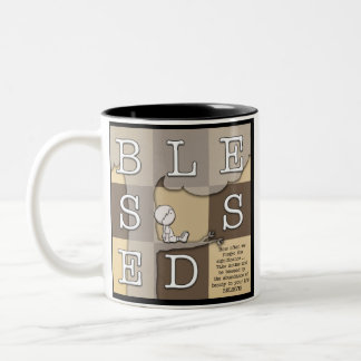 Blessed By  Abundance of Beauty Two-Tone Coffee Mug