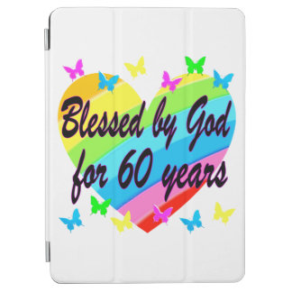 BLESSED BY GOD FOR 60 YEARS HEART DESIGN iPad AIR COVER