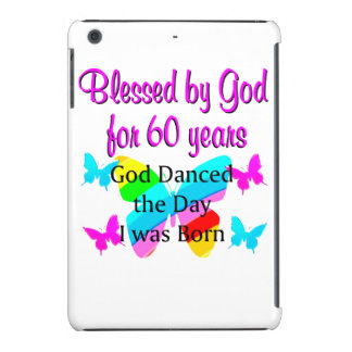 BLESSED BY GOD FOR 60 YRS iPad MINI COVER